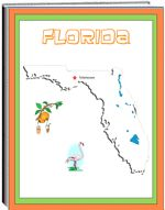 Thematic Unit - Florida - Each state thematic unit is 13 pages. They offer information about the following: history, Capital, flag, tree, bird, flower, size, location, climate, topography, industry, natural resources, waterways  The following pages are also included: questions, word unscramble, spelling, state map, add your own information, answers