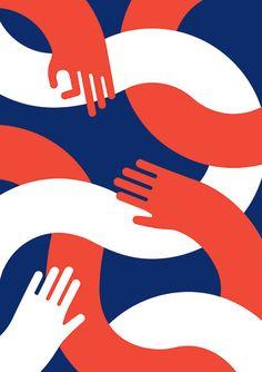 United Notions Exhibition 2015 on Behance Creation Flyer, Design Art, Logo Design, Signage Design, Flat Illustration, Graphic Design Inspiration, Graphic Art, The Unit, Mood