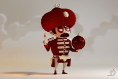 Red soldiers on Behance