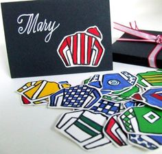 Kentucky Derby Place Card Kit 12 placecards by KisforCalligraphy