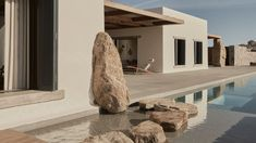 The Greek architecture practice K-Studio has recently completed Villa Mandra, a single-family home located on the hill of Aleomandra in Mykonos, Greece. #villa #mykonos #pool #greece #stone #stonehouse #architecture #architect #amazingarchitecture #design #interiordesign #interiordesigner #decor #homedecor #home #house #luxury #diy #travel #amazing #photography #realestate #casa #arquitecto #arquitectura #decoration #greekisland #aegansea #sea #nature #desert #swimmingpool #houseplan Greece Architecture, Interior Architecture, Interior Design, Amazing Architecture, Secret House, 6 Bedroom House, Desert Homes, Scandinavian Design, Building A House