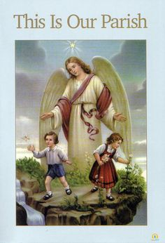Guardian Angel with Boy and Girl picture Catholic Art Print - x from Germany ready to frame! Angel Images, Angel Pictures, Angels Among Us, Catholic Art, Religious Art, Benfica Wallpaper, Gardian Angel, Entertaining Angels, I Believe In Angels