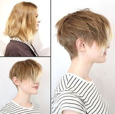 2015 Short Hairstyles with Side Bangs - Ombre Hair