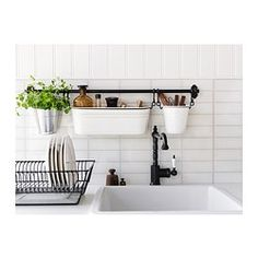 IKEA - FINTORP, Condiment stand, Helps free up space on your worktop while keeping oil and spices close at hand.Can be hung on FINTORP rail using FINTORP hooks, or kept freestanding on the table or windowsill.