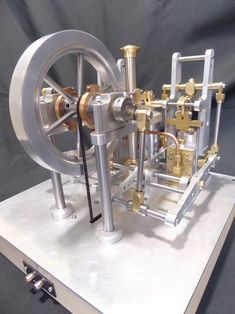 Miniature Steam Engine, Small Engine, Metal Working, Beams, Model Steam Engine, Engineering, Generators, Lathe, Inventions
