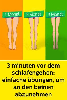 3 minutes before bedtime: Simple exercises to lose weight on the legs - Bauch weg - Diet Pilates Workout, Fitness Workouts, Easy Workouts, Fitness Tips, Health Fitness, Fitness Plan, Fitness Inspiration, Crossfit Body, Burn Fat Build Muscle