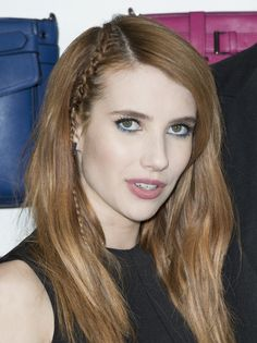 La tresse fine d Emma Roberts, Glamour, Cute Hairstyles, Hair Inspiration, Hair Makeup, Make Up, Shopping, Hair Styles, Beauty