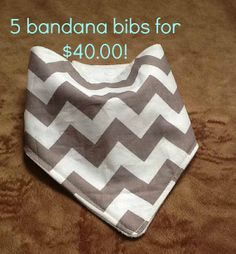 SALE 5 for 40.00 bandana bibs that's one FREE. by knitwhitscouture, $40.00