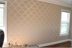 How to Stencil a Wall & a Giveaway! - Southern Hospitality