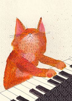 cool cat. ---You can draw this! Straight and curved lines and lots of color. What color will your cat be?