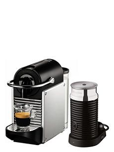 NESPRESSO Magimix Nespresso Pixie coffee machine with Aeroccino aluminium