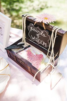"""Collect advice for a happy marriage with this precious """"pearls of wisdom"""" prompt."""