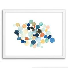 Minted for west elm - Hexagon Cluster #westelm 20 x16 $130