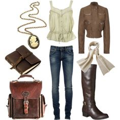 Everyday steampunk, winter. Not sure about the jacket . . .