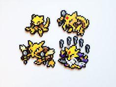 Pokemon Perler - Abra / Kadabra / Alakazam / Mega Alakazam