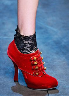 Dolce & Gabbana BOOTIE WITH LACE SOCKS