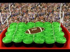 Superbowl Cake - NFL Football Pullapart Cupcake Cake