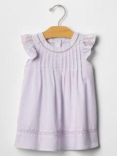 Pintuck ruffle dress Product Image