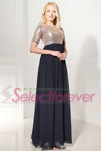 sequined-short-sleeve-evening-dress-gown-long-formal-empire-chiffon-plus-size