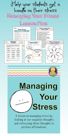 A lesson to help students understand that their negative thoughts can impact their stress. Complete with stress survey, coping skills, and thought changing worksheets.