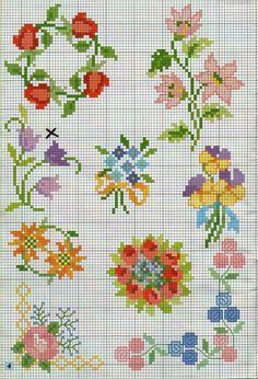 Cross Stitch Numbers, Tiny Cross Stitch, Cross Stitch Borders, Cross Stitch Flowers, Cross Stitch Designs, Cross Stitching, Cross Stitch Embroidery, Cross Stitch Patterns, Pot Pourri
