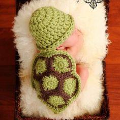 Crochet Pattern - Hatchling Turtle- Cuddle Critter Cape Set