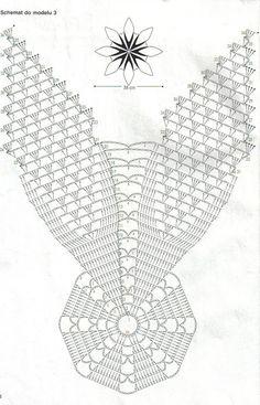 Kira scheme crochet: Scheme crochet no. Filet Crochet, Crochet Mat, Crochet Doily Diagram, Form Crochet, Crochet Needles, Crochet Doily Patterns, Crochet Home, Thread Crochet, Crochet Doilies