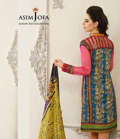 Asim Jofa Luxury Lawn Eid Collection 2015 AJL_2B