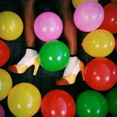 """""""Walking"""" #shoes #balloons #PopOfColour"""