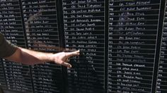 Navy veteran memorializes fallen heroes on wall  May. 25, 2014 - 3:47 - Ron White writes over 2,200 names from memory
