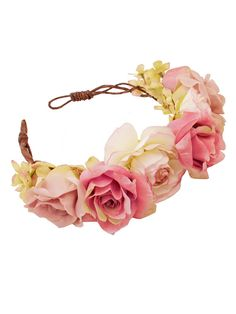 Nora Oversized Floral Crown Headband