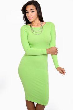 Simple Fashion Long Sleeve Cotton Bodycon Short Dress