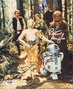 MARK HAMILL, MAYHEW, BAKER & DANIELS Signed STAR WARS Cast 8x10 Photo PSA/DNA