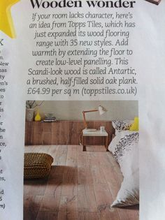 Scandi look solid oak wood flooring from toppstiles.co.uk