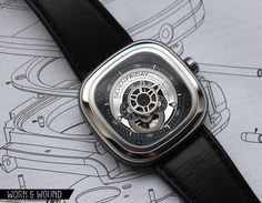 SevenFriday PR1 Watch Stylish Watches, Casual Watches, Luxury Watches For Men, Skeleton Mechanical Watch, Skeleton Watches, Running Watch, Luxury Watch Brands, Automatic Watch, Sport Watches