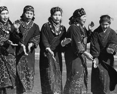 Ainu, aboriginal people of Asia occupying parts of the Japanese island of Hokkaido, Russian Kuril Islands and Sakhalin. (Photo by Three Lions/Getty Images). Vintage Photographs, Vintage Photos, Ainu People, Aboriginal People, Portraits, Kimono, People Of The World, World Cultures, Vintage Japanese
