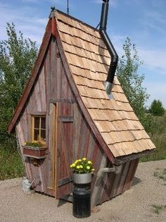 I'm going to have an outhouse, and it's going to be cool like this one