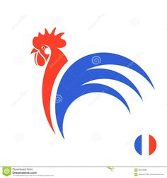 French rooster stock vector. Illustration of male, bird - 85420288 Rooster Vector, French, Bird, Illustration, French People, Birds, French Language, Illustrations, France