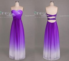 Purple And Teal Ombre Bridesmaid Dresses Wedding Dress Ideas