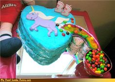 Unicorn Fart Cake - someone is getting this for their special day!!