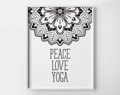 Peace Love Yoga Print