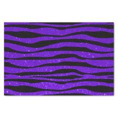 """Soft Purple Glitter Zebra Animal Print 10"""" X 15"""" Tissue Paper"""