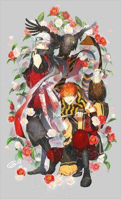 Mystic Messenger traditional kimono ver   Saeran & Saeyoung