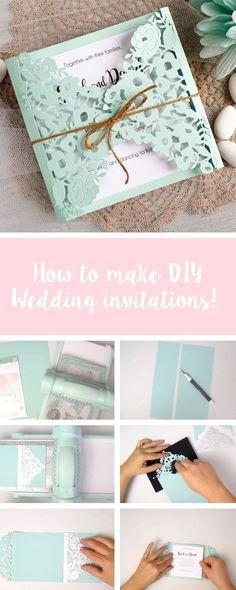 In this Sizzix craft tutorial, we'll show you how to make your own handmade DIY wedding invitations. You can easily make these adorable handmade lace wedding invitations. Feature your make with us using #mymakingstory - #crafts #DIYcrafts #makersgonnamake #handmadewedding #wedding #DIYwedding #wedding #weddingcrafts #weddinginvite #crafts #cardmaking #papercrafts #sizzix #sizzixbigshot