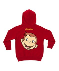 Look what I found on #zulily! Curious George Red Personalized Zip-Up Hoodie - Toddler & Kids by TV's Toy Box #zulilyfinds