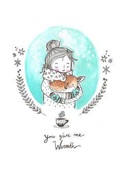 Marieke ten Berge 'Postcard You Give Me Warmth'