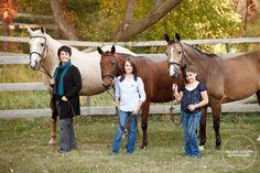 Family Session with horses via Shelley Paulson Photography