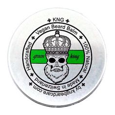 "KNG BeardCare Bartbalm ""green king"" 60g Beard Balm, Dose, The Balm, King, Green, Vanilla, Designer Stubble, Face Hair, Shaving"