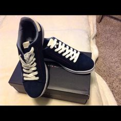 Funky Tommy Hilfiger Sneakers Medium Blue Suede Tommy Hilfiger Sneakers Tommy Hilfiger Shoes Sneakers