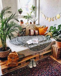 Decoration Bedroom, Bohemian Bedroom Decor, Decoration Design, Home Decor Bedroom, Diy Home Decor, Modern Bedroom, Bedroom Ideas, Decor Room, Wall Decor